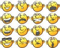 Set of Smileys Royalty Free Stock Photo