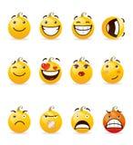 Set of smileys Stock Photography