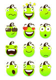 Set of smileys Stock Photo