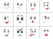 Set Smileys z wyrażeniem emocje royalty ilustracja