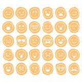Set of smilies icons isolated Royalty Free Stock Photo