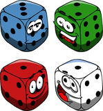 Set of smiling gambling dices Royalty Free Stock Image