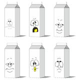 Set smiling paper packs 012 Royalty Free Stock Photos