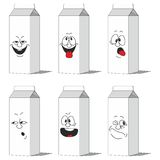 Set smiling paper packs 013. Vector. Set smiling paper packs 013 Royalty Free Stock Photography