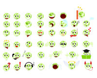 Set smilyes. Set of cool smiles. Vector illustration, isolated on a white Stock Illustration