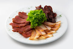 The set of smoked meat Royalty Free Stock Image