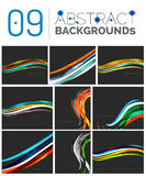 Set of smooth abstract backgrounds Royalty Free Stock Image