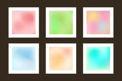 Set of smooth backgrounds. Collection blurry textures. Gradient mesh. Modern vector illustration royalty free illustration