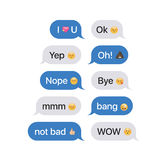 Set of SMS bubbles messages Stock Photos