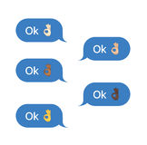 Set of SMS bubbles messages Royalty Free Stock Image