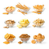 Set of snacks Royalty Free Stock Images