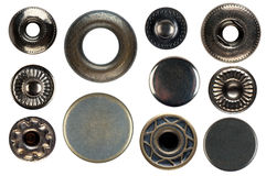 Set of snap fasteners Royalty Free Stock Photo