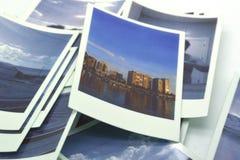 Instant photographs Polaroid type stock image