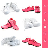 Set of sneakers Royalty Free Stock Photo