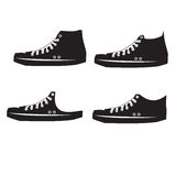 Set of Sneakers Royalty Free Stock Photos