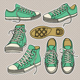 Set with sneakers  Royalty Free Stock Image