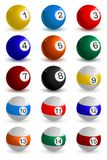 Set of Snooker Ball Stock Image