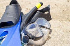 set snorkeling för strand Royaltyfria Foton
