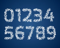Set of snow digits Stock Image