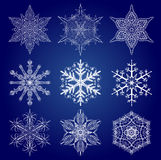 Set of Snow Flakes Stock Image