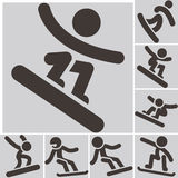 Set snowboard icons Stock Photos