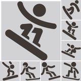 Set snowboard icons. Winter sport icons. Set snowboard icons Stock Photos