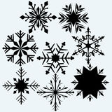 Set snowflake Royalty Free Stock Photos