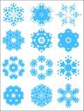 set snowflake för modell Royaltyfri Bild