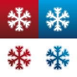 set snowflake för symbol vektor illustrationer
