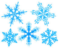 Set Snowflake. Flake of snow Stock Photos