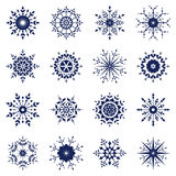 Set of snowflake Stock Photos