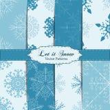 Set of Snowflake Patterns - Snowflake vector patterns. Royalty Free Stock Images