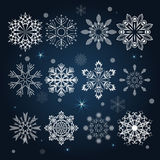 Set of snowflake shapes Royalty Free Stock Photography