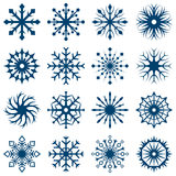 Set of snowflake shapes Stock Photos