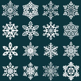 Set of snowflake silhouettes. New year decoration Stock Images