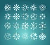 Set snowflake, vector Royalty Free Stock Photography