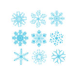 Set of Snowflake Vectors Royalty Free Stock Photos