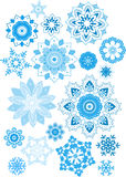 Set of snowflakes. Royalty Free Stock Images