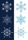 Set of snowflakes. Royalty Free Stock Photography