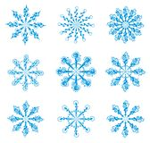 Set of snowflakes. Stock Images