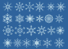 Set of snowflakes. A set of  snowflakes for winter backgrounds Stock Image