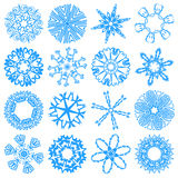 Set snowflakes Royalty Free Stock Photos