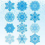 Set Snowflakes royalty free stock image