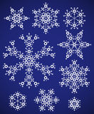 Set of snowflakes Stock Photography