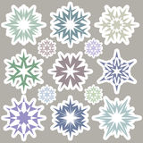 Set of snowflakes 2 Stock Photos