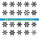 Set snowflakes Royalty Free Stock Photography