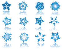 Set of snowflakes Stock Photos