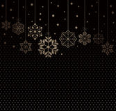 Set of snowflakes background Royalty Free Stock Image