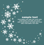 Set of snowflakes background Royalty Free Stock Photos