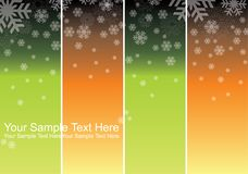 Set of snowflakes background Stock Photo